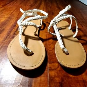 White sandals Charlotte Russe